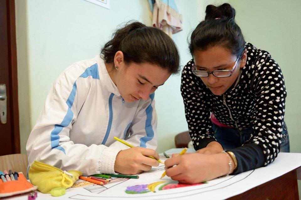 Ernährungskunde im Kinderheim Comunidad Ancieto Solares, Vallegrande, Departamento Santa Cruz, Bolivien; Foto: Florian Kopp/SMMP