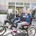 Das Fun-to-go-Fahrrad aus der Senioren-WG St. Franziskus in Oelde war bei dem Tag der offenen Tür ein Hingucker. Foto: SMMP/Bock