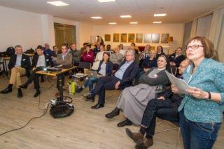 Die neue Chefredakteurin Beatrix Gramlich lud zu einem kleinen Quiz über Jobst Rüthers ein. Foto: SMMP/Ulrich Bock