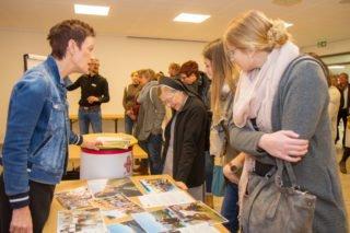 Lehrerin Irmhild Padberg informierte über die Erasmus.-Austausch-Programme der Berufskollegs. Foto: SMMP/Ulrich Bock