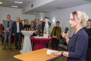 """Antje Rostalski übernam die Abschiedsorte für die Seniorenhilfe SMMP. Sie kennt Ida Knecht schon aus vielen gemeimsamen Jahren in Diestedde: """"WIr werden Dich vermissen."""" Foto: SMMP/Ulrich Bock"""